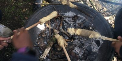 Baking Bread at Forest School